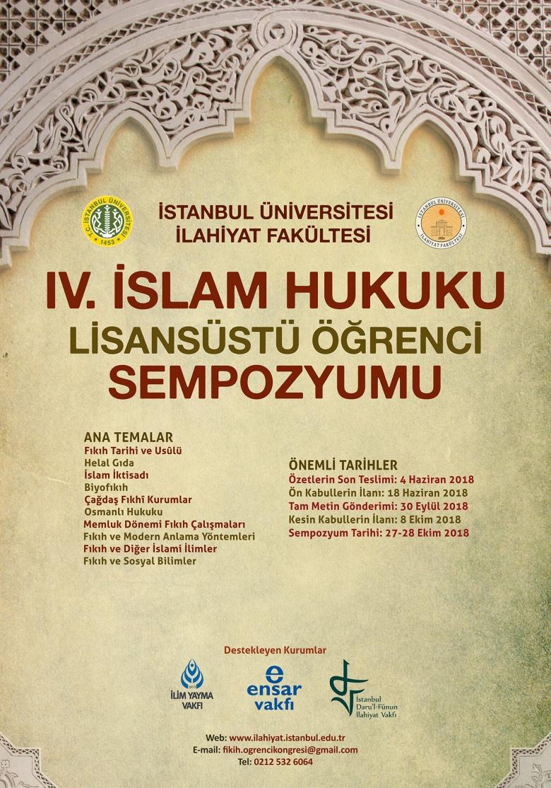 IV Islam Hukuku Ogrenci Sempozyumu