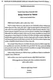 Şuayp Arnavut'un Kitaba Yazdığı Takrizin Türkçesi